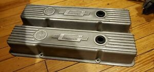 Vintage Mr Gasket Chevy S b Aluminum Valve Covers Old School Gasser