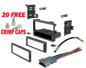 Complete Radio Stereo Install Dash Kit Wiring Harness Antenna Adapter Crimps