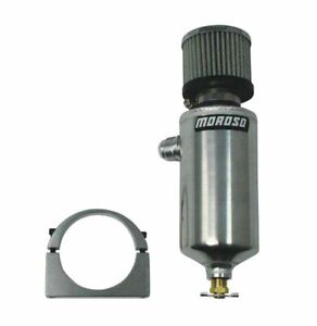 Moroso Breather Tank Catch Can 12an Male Fittings 3 1 8 Diameter 85467