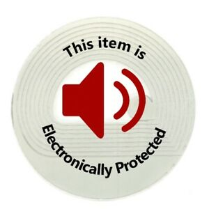 2 000 Rf 8 2mhz Label Round Checkpoint Compatible 30mm Size W red Warning Print