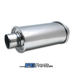 Vibrant Performance Stainless Steel Ultra Quiet Resonator 2 5 Inlet