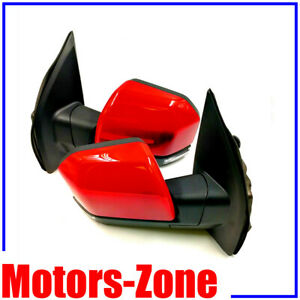 Painted Race Red Pq Door Mirrors For 15 18 F150 Power Heat Puddle Light 22pin