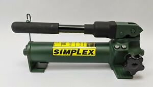 Simplex P22 Hand Pump For Oil Tank Capacity 20 Cu In 10000 Psi Green Cylinder
