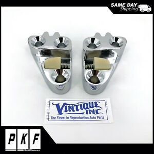 1956 Ford Pickup Truck Chrome Door Striker Plates Pair Lh Rh F100 F900
