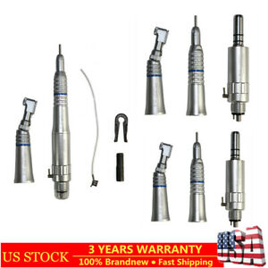 3 Set Dental Low Speed Handpiece Kit Contra Angle Straight Air Motor E type Sale