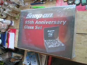 Snap On 95th Anniversary 6 Piece Premium 6 Glass Set Boxed And Sealed 1920 2015