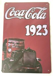 COCA COLA 1923 COKE RETRO METAL TIN NOVELTY NUMBER LICENSE PLATE WALL SIGN GIFT