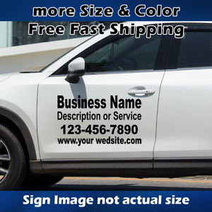 Custom Lettering Sign Decal Sticker Business Name Rear Side Suv Truck Van Decals