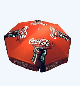 Coca-Cola Coke Patio Table Umbrella Red Contour Bottle Polyester - BRAND NEW