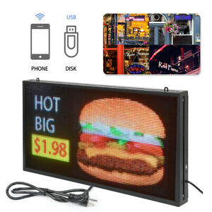 Full Color 27 x 14 P5 Led Sign Programmable Scrolling Message Display