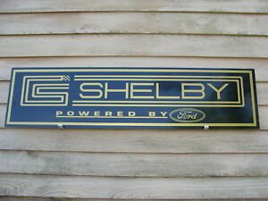 1960 s Hertz shelby ford Gold black Or Blue white Format Metal Dealer Sign ad