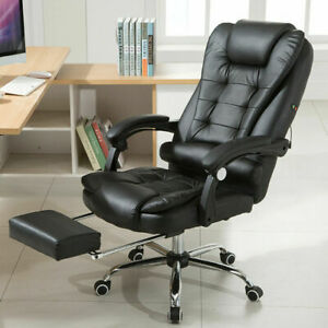 Office Racing Gaming Chair Ergonomic Pu Leather Swivel Recliner W footrest Hot