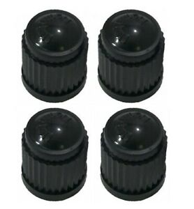 4pcs Valve Stem Caps Black Air Caps Tire Caps Brand New Qty4