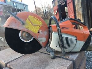 Stihl Ts 500i 14 Gas Concrete Cut off Saw With Water Line Ts500i