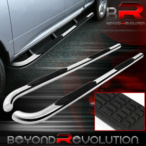 For 04 15 Titan Extended Running Side Step Nerf Bar Chrome Stainless Steel