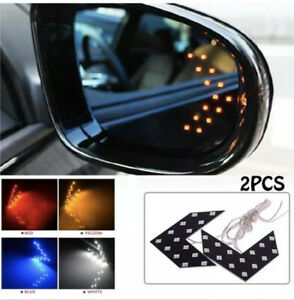 1 Pair 14 Smd Led Arrow Lights Car Side Mirror Turn Signal Accessories Vehicle