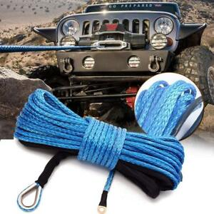 1 4 X 50 Synthetic Winch Rope Line Cable 10000lbs Capacity Atv Utv Boat Truck