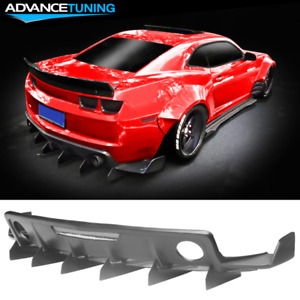 Fits 10 15 Chevrolet Camaro Zl1 Mb Style Rear Diffuser Bumper Cover Fin Pp