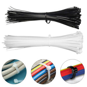 100pcs 8 To 24 Heavy Duty Nylon Industrial Cable Wire Zip Ties Self locking