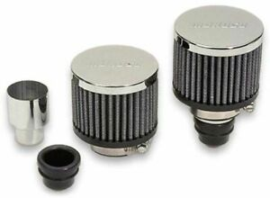 Moroso Valve Cover Push In Filtered Breather Kit For Covers With 1 22 Holes