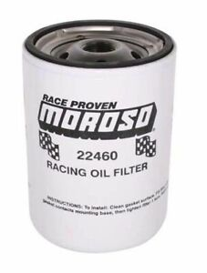 Moroso 13 16 16 Unf Thread 5 1 4 Tall Racing Oil Filter For Chevy 22460