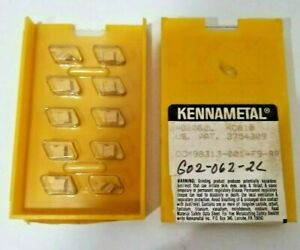 10 Pcs Kennametal Ng 2062l Kc 810 Lathe Carbide Inserts Grooving Cut Off New