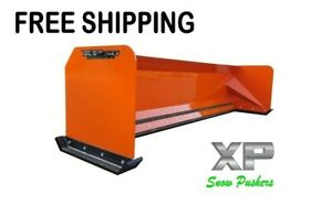 8 Xp30 Kubota Orange Snow Pusher Skid Steer Loader Free Shipping