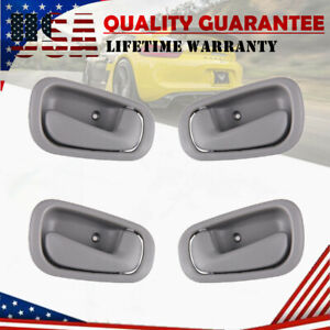 4pcs Gray Inside Inner Interior Door Handle For 98 02 Toyota Corolla Chevy Prizm