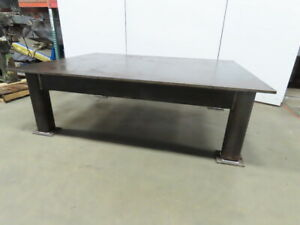 H d 7 8 Thick Top Steel Fabrication Layout Welding Table Work Bench 72 x96