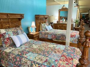 Stunning Antique Twin Bedroom Suite 5 Piece