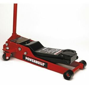 Powerbuilt 3 Ton Heavy Duty Low Profile Floor Jack 3 1 2 In To 20 In 647580