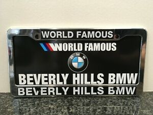 World Famous Beverly Hills Bmw License Plate Frames
