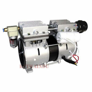 380w Medical Oilless Vacuum Pump 98kpa 80l m Piston Micro Vacuum Pump 12v