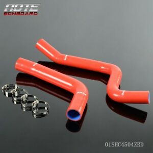 Silicone Radiator Hose Fit For 1967 1968 1969 Red Chevy Camaro Firebird