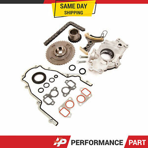 Timing Chain Kit Cover Gasket Oil Pump For 07 13 Buick Cadillac Gm 5 3 6 0 6 2