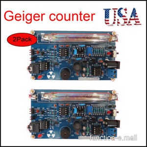 2pcs Assembled Diy Geiger Counter Kit Nuclear Radiation Detector Beta Gamma Ray
