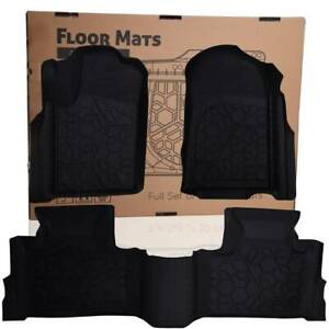 3 Pcs Left right Floor Mats Liners Unique Tpe For 12 18 Jeep Grand Cherokee