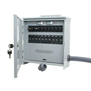 Outdoor Transfer Switch 7500 W 30 Amp 10 Circuit For Use W Portable Generators