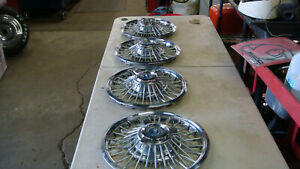 1965 1966 Ford Mustang Wire Wheel Spinner Hub Caps Set Of 4 14 Inch Fastback