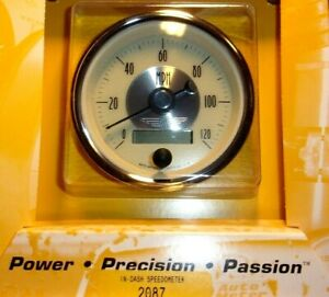 Autometer 2087 Prestige Antique Ivory 3 3 8 Programmable Speedometer Gauge