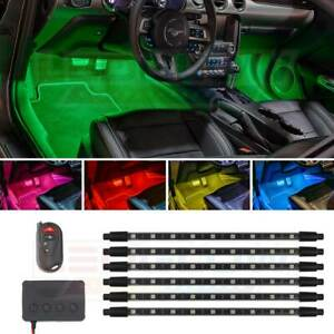 Ledglow 6pc Million Color Pro Smd Led Interior Footwell Neon Lighting Kit