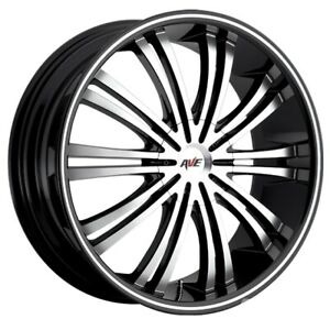 18x7 5 4 100 4 114 3 Black W Machined Face Avenue A601 Wheels For Toyota Set