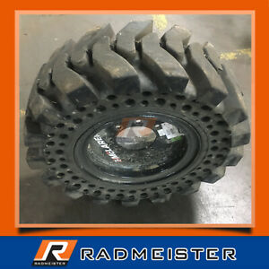 12x16 5 33x12 16 Set Of 4 Solid Skid Steer Tires W rims