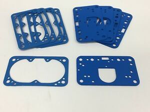 10 Holley Carburetor Non Stick Fuel Bowl Metering Block Gasket 4150 4160 4500