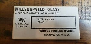 2 Vintage New Old Stock Willson weld Glass Welding Lenses Shade 10 And 4