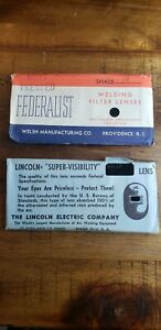 Lincoln Supervisibility Glass Welding Lens Vintage Shade 12 bonus Lens