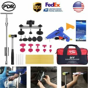 Us Car Body Paintless Dent Removal Repair Pdr Tools Silde Hammer Dent Puller Kit