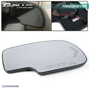 Passenger Side Mirror Glass Heated With Turn Signal Fit For Chevy Gmc Cadillac