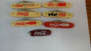 LOT 7 DIF.  COCA COLA  NOVELTY KNIFE BY FROST NEW