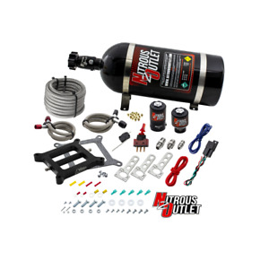 Nitrous Outlet Weekend Warrior Wet 4150 Nitrous Plate System 10lb Bottle